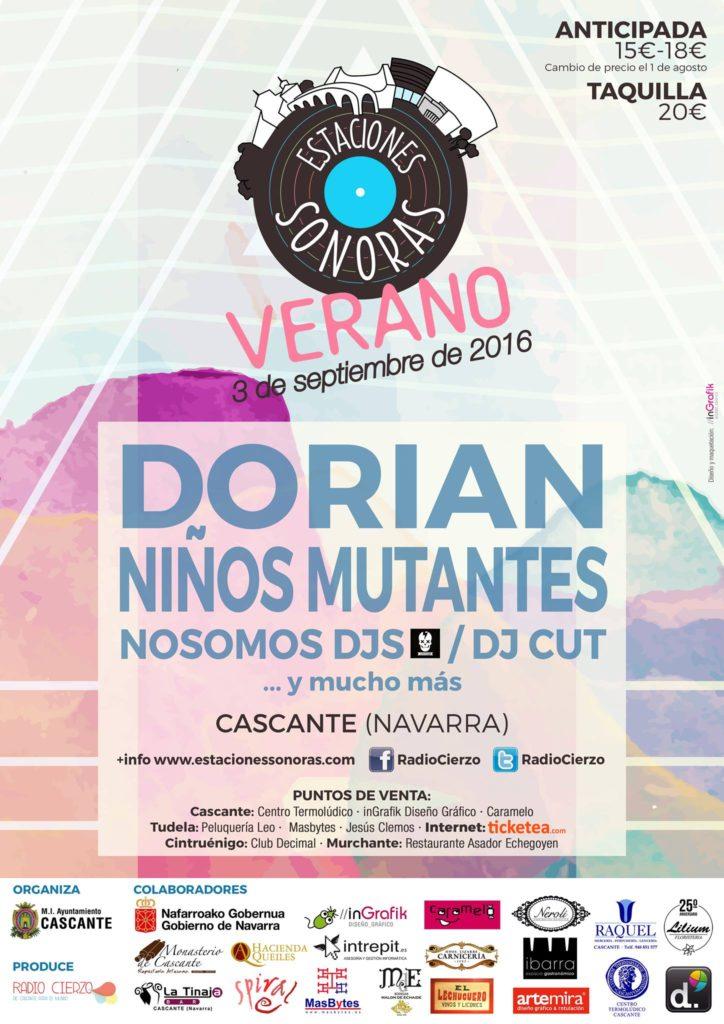 Estaciones Sonoras Verano - Dorian - Niños Mutantes - Cascante Navarra