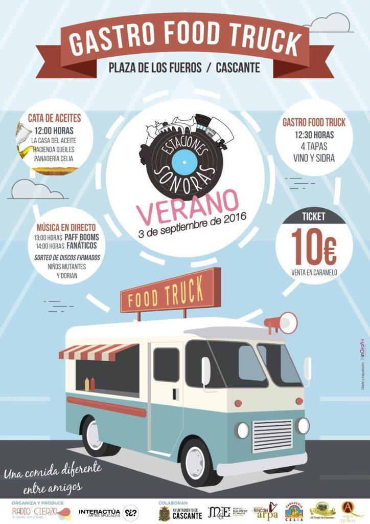 Estaciones Sonoras - gastro Encuentro en Cascante - Food Trucks - Aceites Radio Cierzo