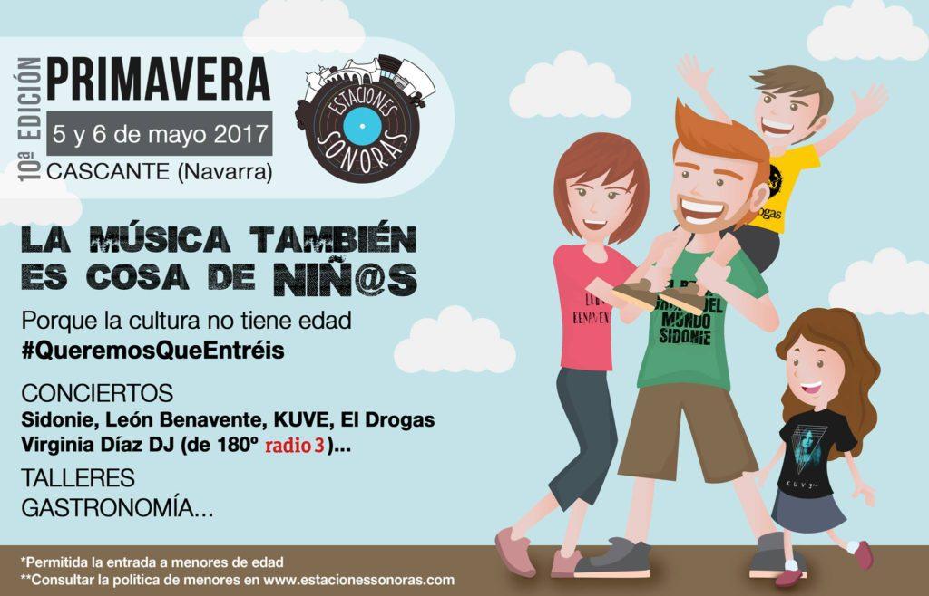 Estaciones Sonoras Primavera 2017 Radio Cierzo Cascante Navarra Menores - Sidonie Leon Benavente Kuve El Drogas Virginia Diaz Radio 3