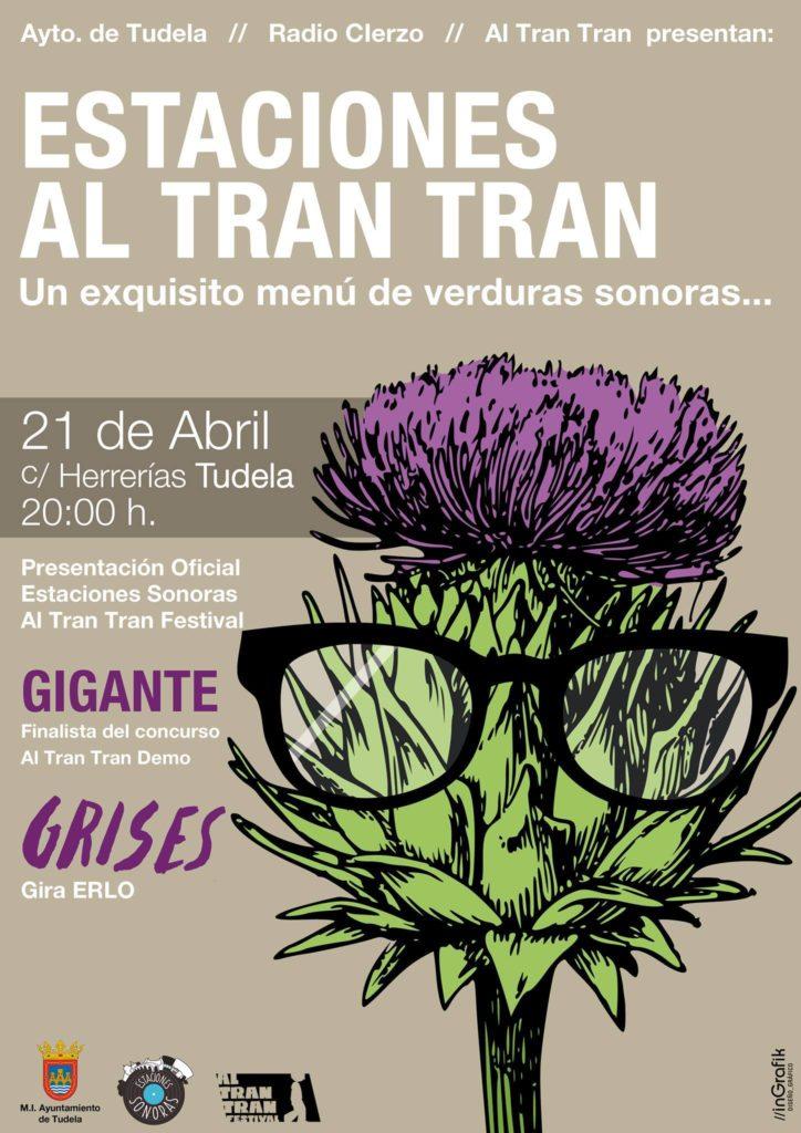 Estaciones Al Tran Tran - Grises - Ggante Tudela Navarra - Radio Cierzo