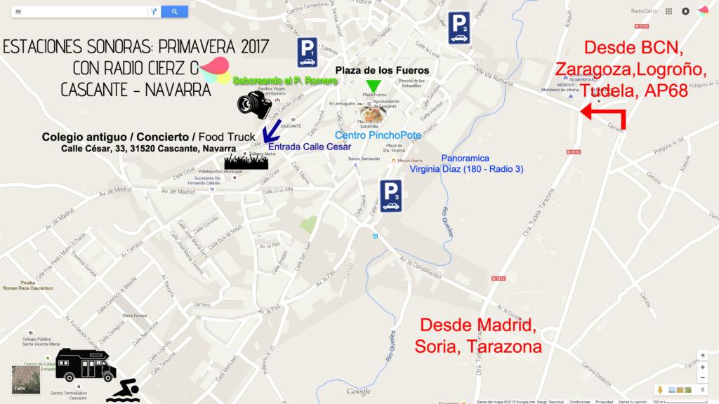 Plano Estaciones Sonoras Primavera 2017